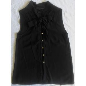 NEW*  MARC BY MARC JACOBS  BLACK SILK TIE NECK TOP